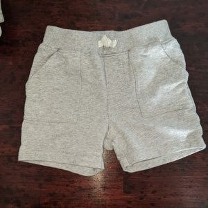 24m grey French terry cotton shorts Carter's